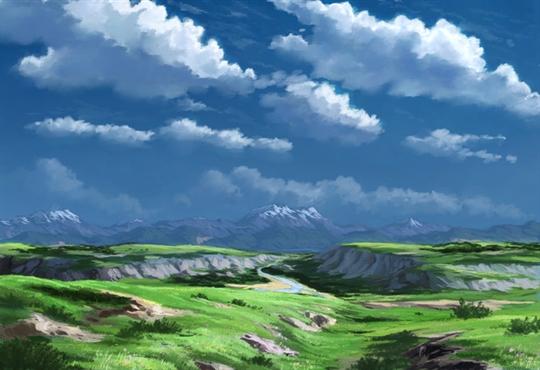 どっかの高原の風景